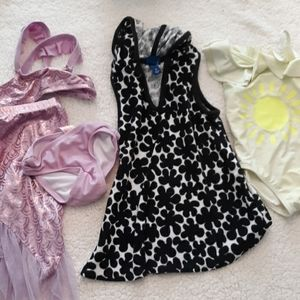 Size 3t Swim Bundle- Bikini Coverup and one piece